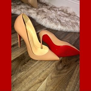 So Kate Nude Patent Christian Louboutin Size 39